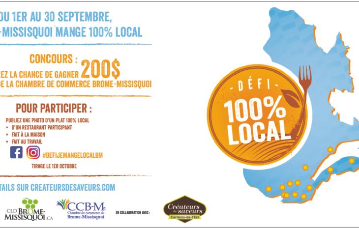 Du 1er au 30 septembre, Brome-Missisquoi mange 100% local